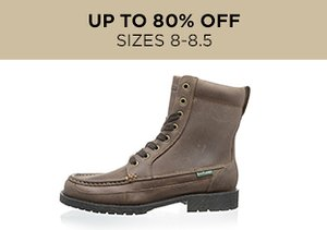 Up to 80% Off: Shoes Sizes 8-8.5