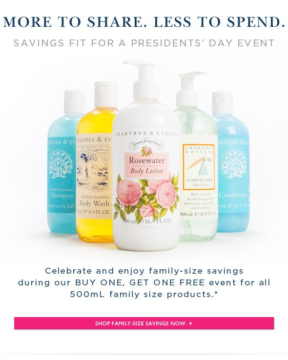 Purchase one 500mL size product for $28 and receive one 500mL size product for free.