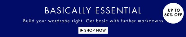 Get your essentials up to 65% off