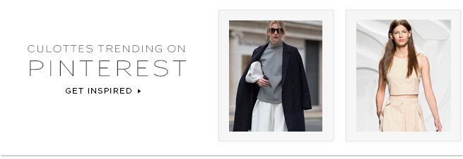 Get Inspired by Culottes Trending on Pinterest.