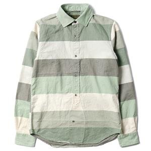 Nigel Cabourn BD Shirt (Gradation Stripe) Green