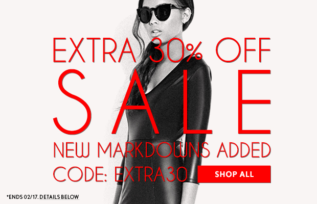 Extra 30% Off Sale Items!