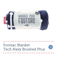 Footsac Blanket Tech Navy Brushed Phur