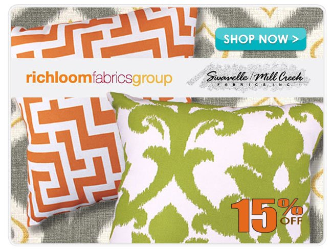 15% off Richloom & Swavelle Mill Creek Home Decor Fabric