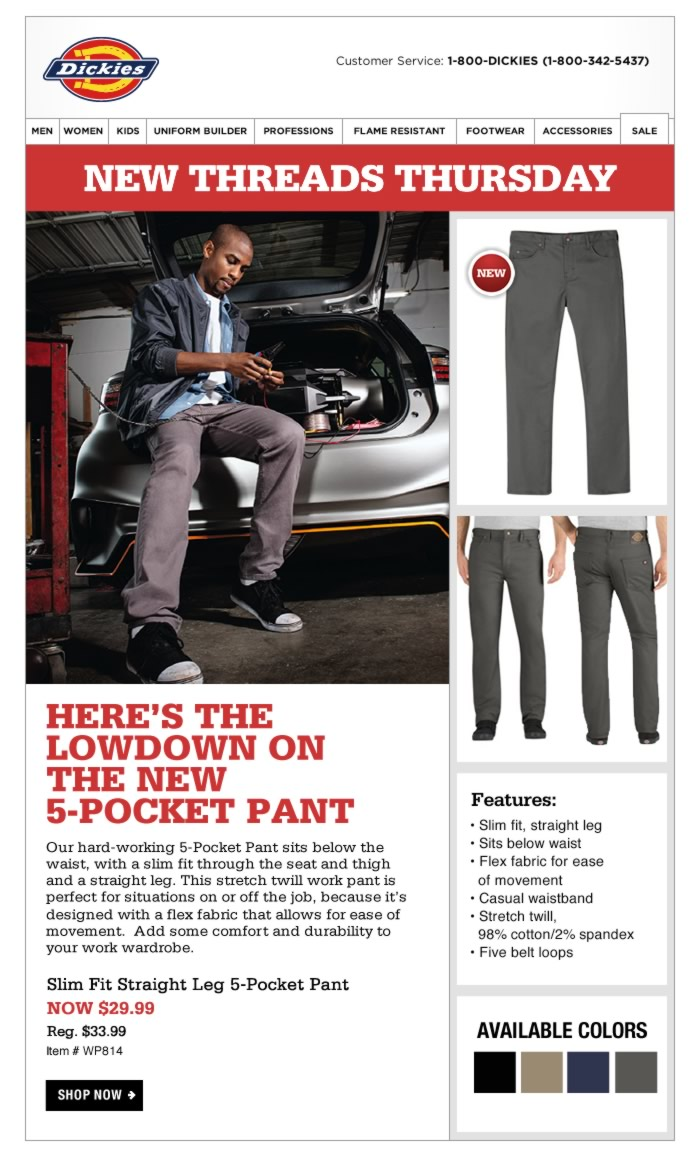 New Threads Thursday: Twill 5-Pocket Pant