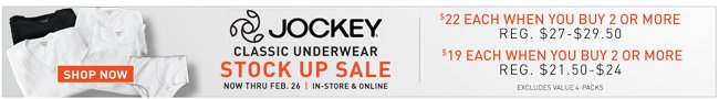 Shop All 2-for Jockey
