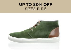 Up to 80% Off: Shoes Sizes 11-11.5