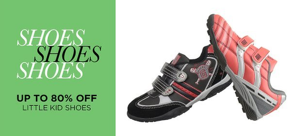 Up to 80% Off: Little Kid Shoes