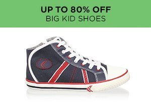 Up to 80% Off: Big Kid Shoes