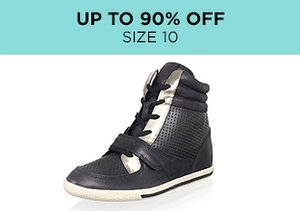 Up to 90% Off: Shoes Size 10