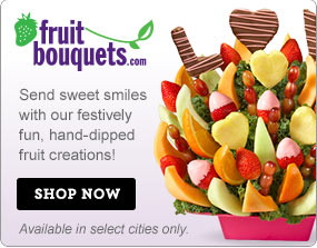 Fruit Bouquets.com Send sweet smiles with our festively fun, hand-dipped fruit creations! Shop Now  Available in select cities only