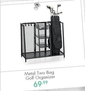 Metal Two Bag Golf Organizer 69.99
