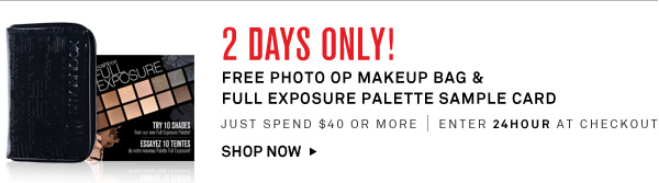 2 Days Only, GWP!