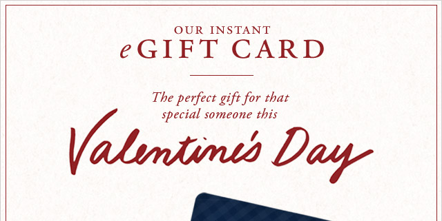 OUR INSTANT eGIFT CARD