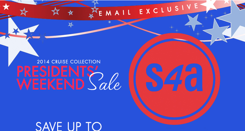 Presidents' Weekend Sale - save up to 70% off sitewide - code: 14FEB31