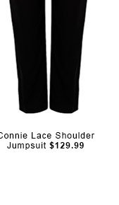 Connie Lace Shoulder Jumpsuit.