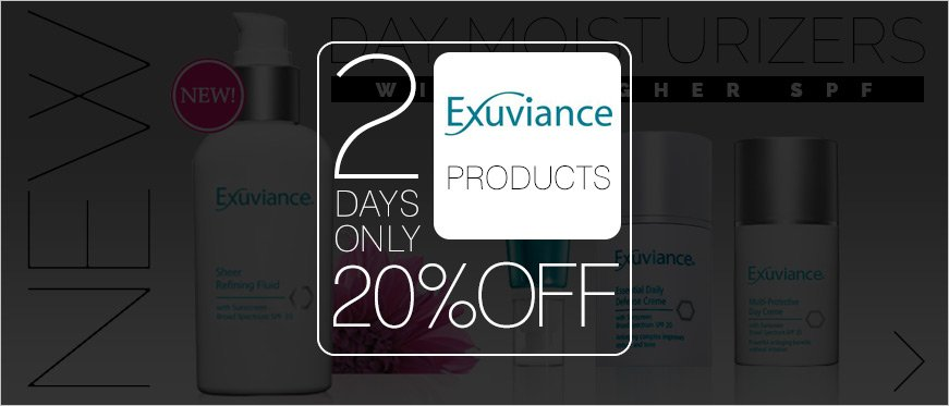2 Days Only 20% Off Exuviance Products