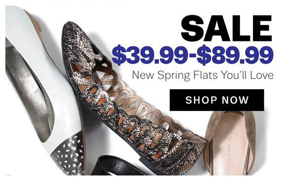 Sale $39.99 - $89.99 New Spring Flats You'll Love. Shop Now
