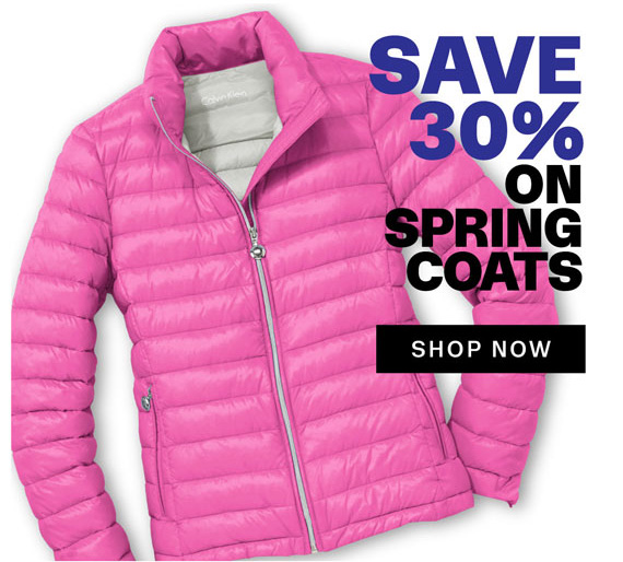 Save 30% on Spring Coats. Shop Now