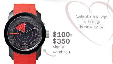 $100-$350 men's watches.