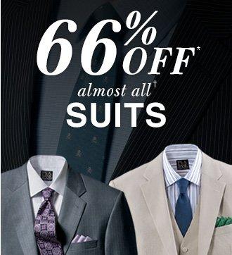 66% Off* Suits