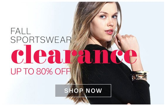 Fall Sportswear Clearance up to 80% Off. Shop Now