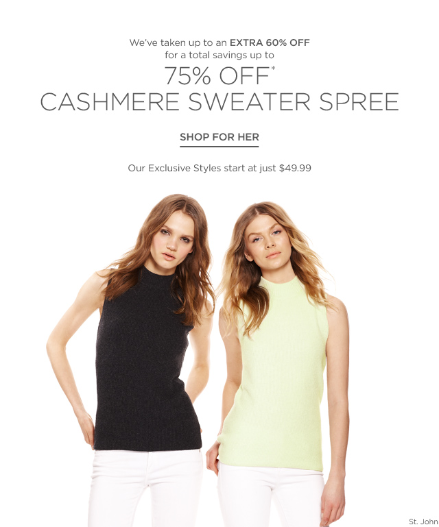 Up to 75% off Cashmere Sweater Spree