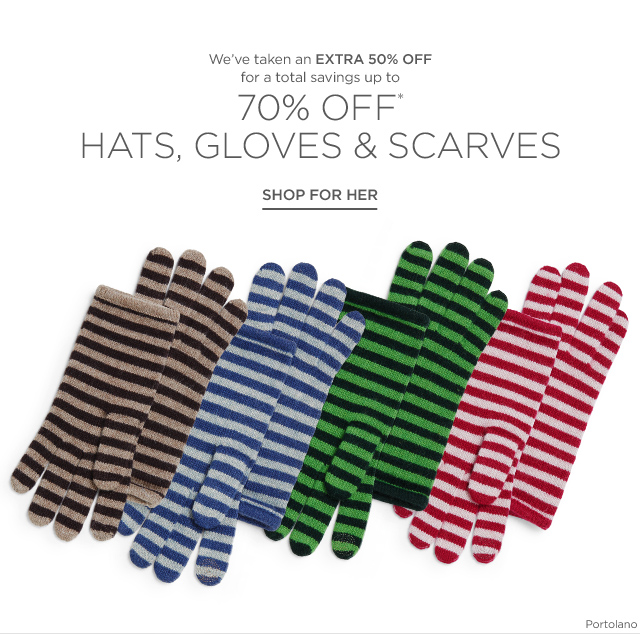 Up to 70% off Hats, Gloves & Scarves