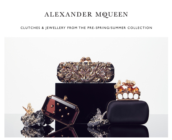 New Season Clutches & Jewellery from Alexander McQueen