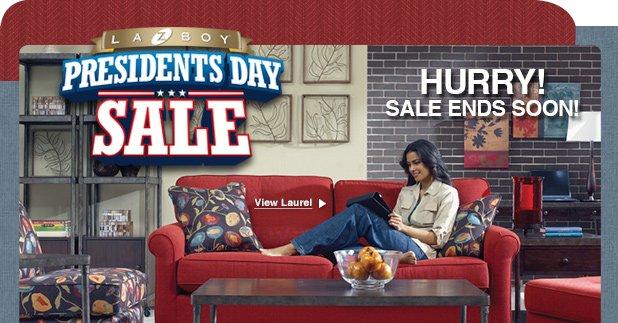 LA Z BOY Presidents Day Sale. Hurry! Sale Ends Soon!