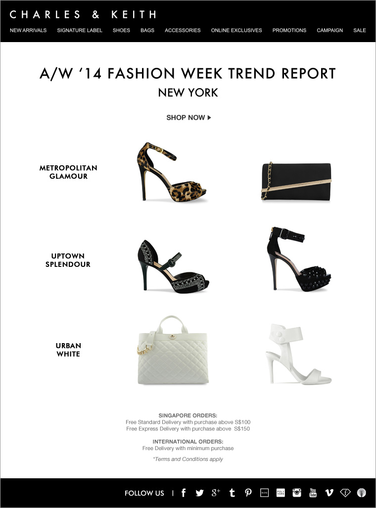 CHARLES & KEITH - NYFW Trend Report - Shoes and Bags