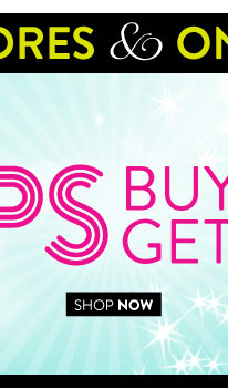 In Stores & Online! Ends 2nite! Tops Buy 1, Get 1 for $5. Select Styles Valid on items of equal or lesser value. SHOP NOW