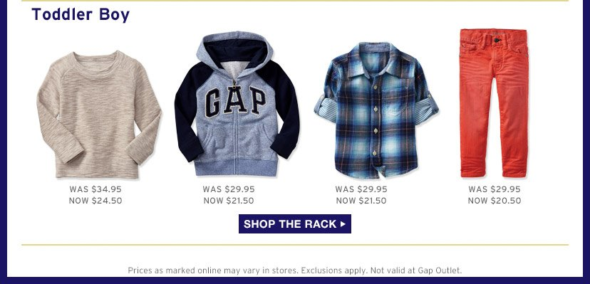 Toddler Boy | SHOP THE RACK