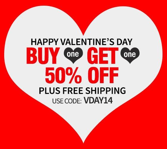 VDAY Bogo + free Shipping