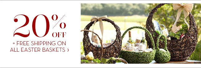 FREE SHIPPING ON ALL EASTER BASKETS