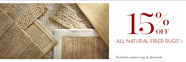 ALL NATURAL FIBER RUGS*