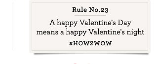 Rule No. 6 February 15th just doesn't cut it. #HOW2WOW