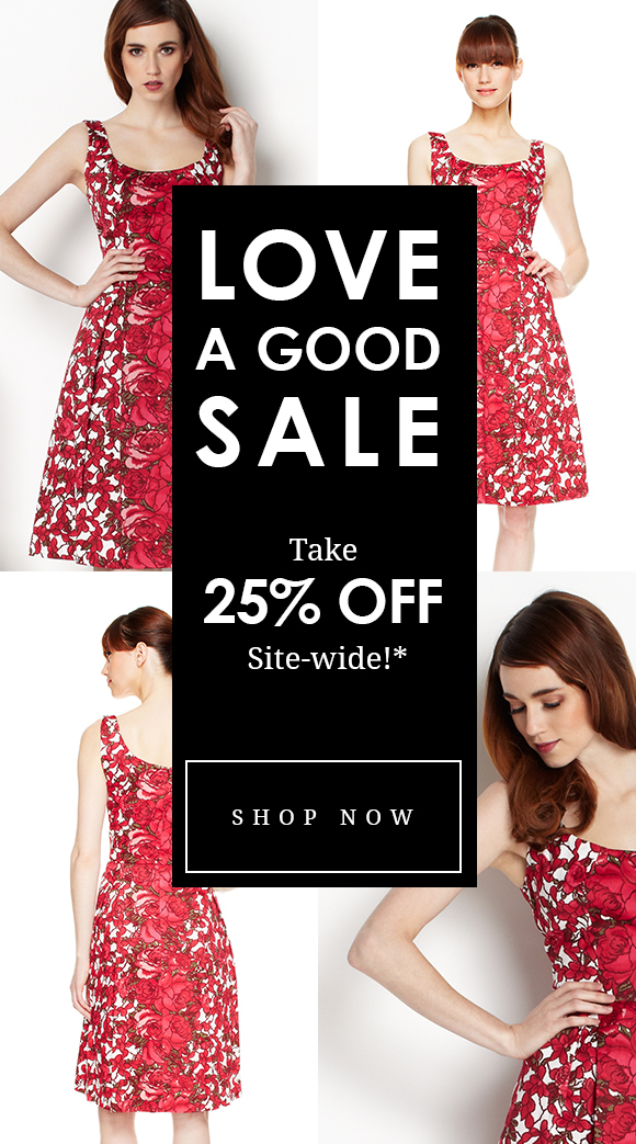 Love a good sale? Take 25% Off Sitewide!
