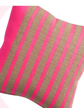 division neon pink 20 inch pillow