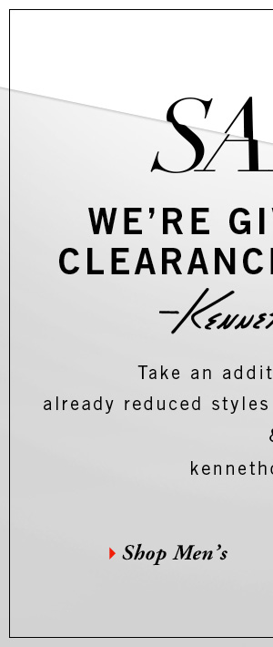 Take an additional 50% off already reduced styles at Kenneth Cole stores & kenenthcole.com // Shop Men's