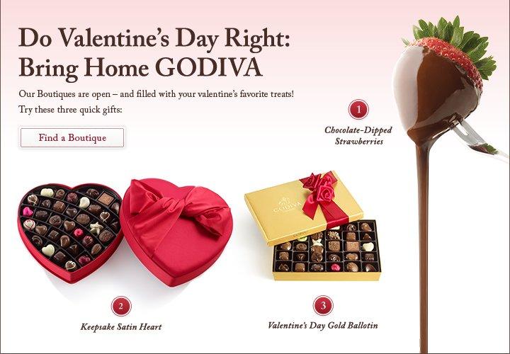 Do Valentine's Day Right: Bring Home GODIVA | Find a Boutique