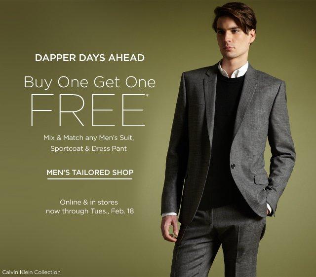 Buy 1 Get 1 Free Men's Suits & more