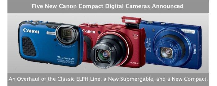 Five New Canon Cameras