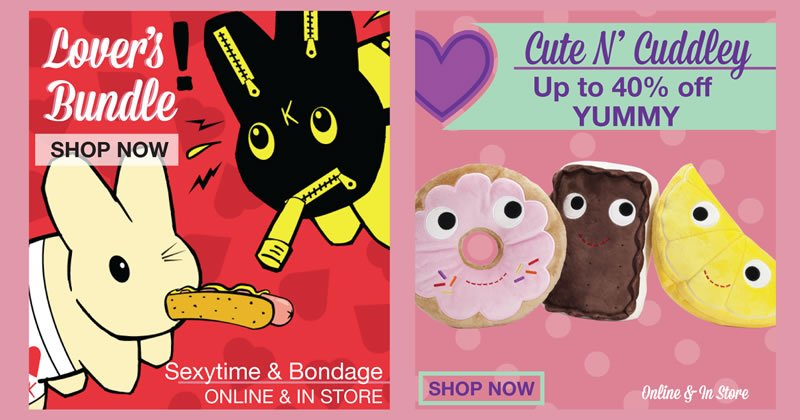 lover's bundle shop now.  Sexytime and bondage.  Cute n' cuddley up to 40% off yummy
