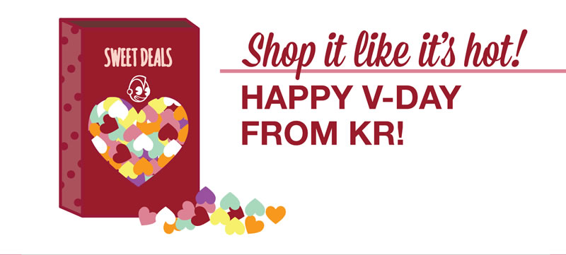 shop it like it's hot!  happy v-day from kr!