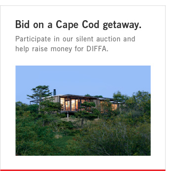 Bid on a Cape Cod getaway. Participate in our silent auction and help raise money for DIFFA.