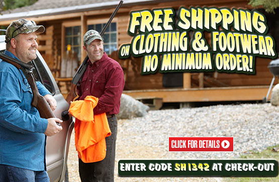 FREE Standard Shipping on ALL Clothing & Footwear!... Please Enter Coupon Code SH1342 at Checkout...