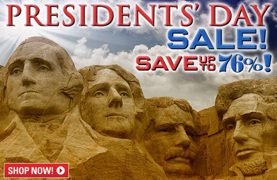 Presidents' Day Sale... Save Up To 76%!