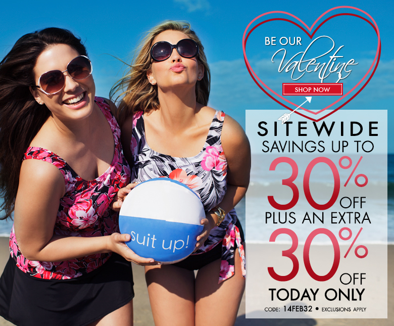 Be Our Valentine - Sitewide Savings up to 30% OFF Plus Extra 30% OFF - TODAY ONLY