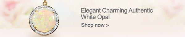 Elegant Charming Authentic White Opal